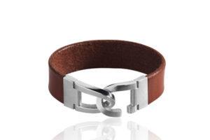 armband leder silberverschluss