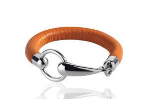 armband leder silber trense