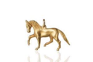 Gold Anhaenger Pferd