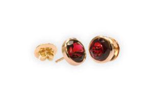 ohrstecker rosegold rubelliten