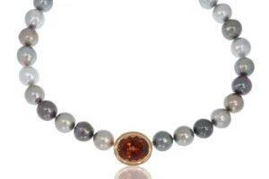 Perlenkette Tahitiperlen mit Turmalin