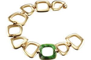 18-10 Bijoux Stadelmann_Bracelet gold grüner Stein