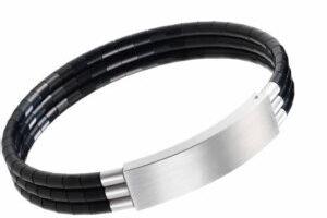 Edelstahl und Platin Armband bg-white