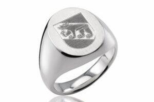 Klassischer Siegelring in Silber wg-white